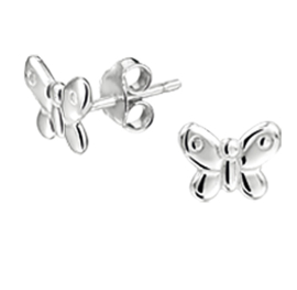 Vlinder Oorknoppen van Zilver | Sale oorbellen
