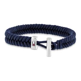 Blauw Touw Armband met Edelstalen Sluiting van Tommy Hilfiger TJ2701071