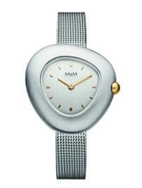 Zilverkleurig Pebbles Dames Horloge met Milanese Band van M&M