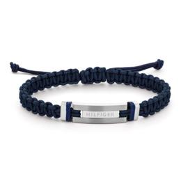 Blauwe Heren Armband van Textiel van Tommy Hilfiger