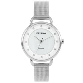 Basic Zilverkleurig Dames Horloge van Prisma met Milanese Band