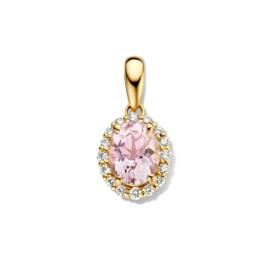 Excellent Jewelry Gouden Hanger met Diamanten en Morganiet
