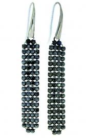 Stijlvolle Zwarte Oorhangers van Spark Jewelry