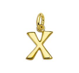 Gouden Letter Bedel Hanger – X