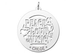 Names4ever Peace Love Music Naamhanger ZNH35
