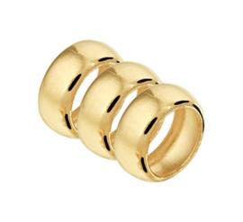 Geelgouden Ringetjes Hanger voor Dames
