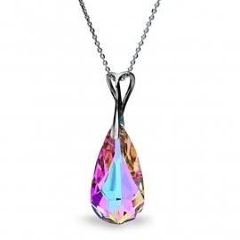 Teardrop Roze Swarovski Hanger van Spark Jewelry