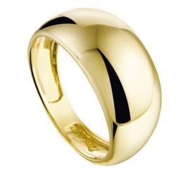 Brede Bolstaande Geelgouden Ring voor Dames