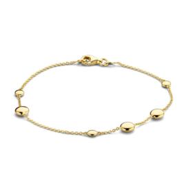 Excellent Jewelry Geelgouden Armband met Brede Schijfjes