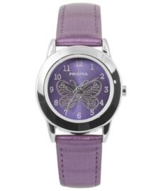 Paars Butterfly Meisjes Horloge met Paarse Horlogeband