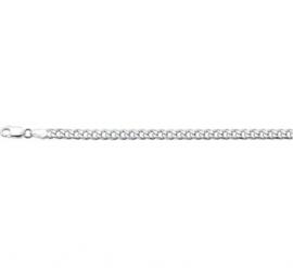 Geslepen Gourmet 4,0 mm Schakelarmband | Lengte 19 cm