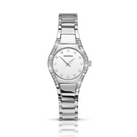 Zilverkleurig Dames Horloge van Sekonda met Sierdiamanten