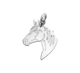 Gepolijste Paardenhoofd Hanger van Gerhodineerd Zilver