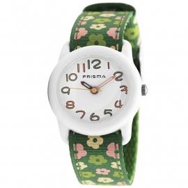 Prisma Horloge P.1311 Kids Rosa Bloemen