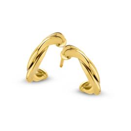 Excellent Jewelry Geelgouden Gedraaide Oorstekers