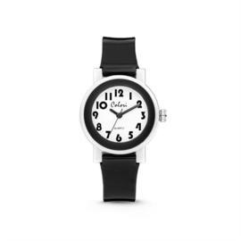 Elegant Zwart met Wit Kids Horloge van Colori Junior