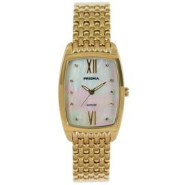 Goudkleurig Dames Horloge met Parelmoer Wijzerplaat