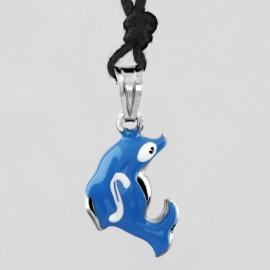 Dolfijn zilveren kinderhanger P3381