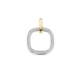 Witgoud + Geelgoud Hanger diamant 0,19ct H SI