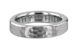 Gehamerde Edelstalen Ring van Tommy Hilfiger / TJ2780096D Maat 17,8mm