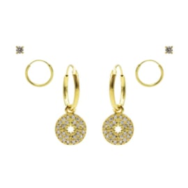 Karma Jewelry – Zesdelige Morningstar Earparty Set - Gold