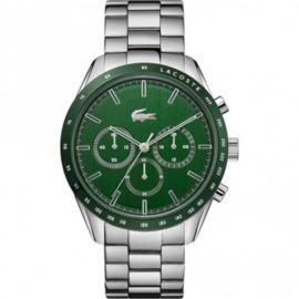 Zilverkleurig Boston Heren Horloge met Groene Wijzerplaat van Lacoste