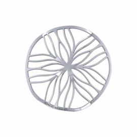 Zilveren Line Flower 33mm Insignia van MY iMenso