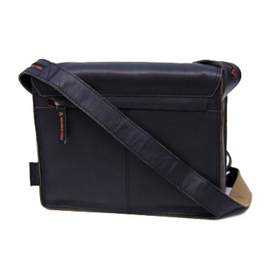 Orange Fire 10'' Horizontale Tablet Tas van Zwart Leder OF 167 Zwart, Black