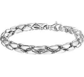 Luxe Schakelarmband van Zilver | Armband 6,5 mm 19,5 cm
