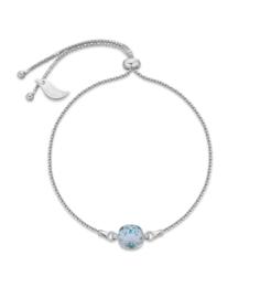 Glaskristal Armband van Spark Jewelry met Zachtblauw Glaskristal
