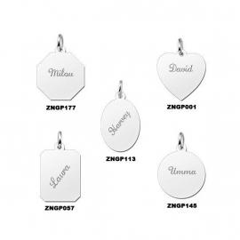 Names4ever Simpel Graveerplaatje Zilver