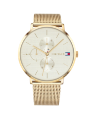 Tommy Hilfiger Goudkleurig Horloge met Milanese Horlogeband