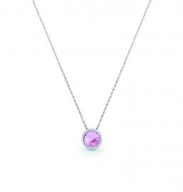 Tiny Bonbon Roze Swarovski Ketting van Spark Jewelry