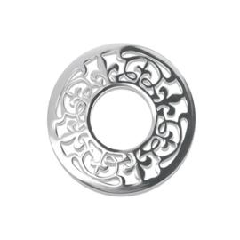LOCKits Zilverkleurige Fantasie Munt van Edelstaal 25mm
