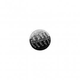 Zwarte en witte Swarovski muntje van MY iMenso
