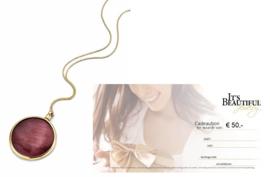 Giftset van MY iMenso Gold 33mm Medaillon + Een It's Beautiful cadeaubon waarde € 50,-