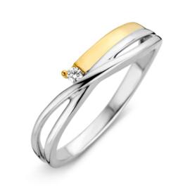 Excellent Jewelry Creatieve Bicolor Ring met Briljant