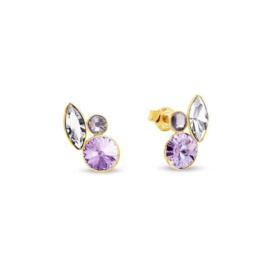 Spark Artesia Gilded Oorknoppen Crystal, Violet, Light Amethyst