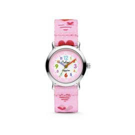 Roze Hartjes Horloge voor Kids van Colori Junior
