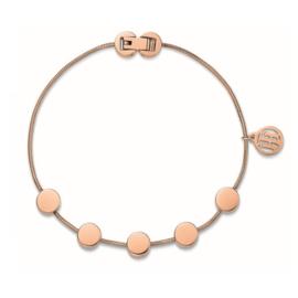 Tommy Hilfiger Roségoudkleurige Dames Armband met Ronde Plaatjes TJ2700981