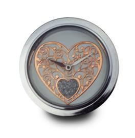 LOCKits Horloge Munt met Decoratief Roségoudkleurig Hart 33mm