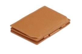 Cognac Bruine Nappa Magic Coin Wallet Portemonnee van Essenziale Garzini