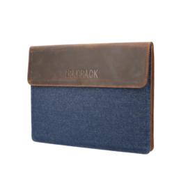 The Rat Pack Laptop Sleeve 15.6'' met Bruine Kleur en Jeans OF 679 – 15.6 inch