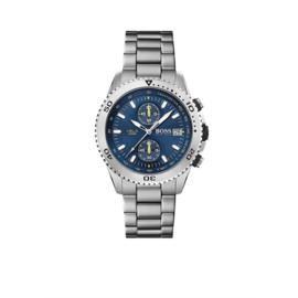 Hugo Boss Horloge Aero Zilverkleurig Horloge met Blauwe Wijzerplaat van Boss