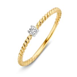 Excellent Jewelry Bicolor Gedraaide Ring met Zirkonia