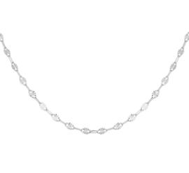 Gerhodineerd Zilveren Collier met Anker Schakels