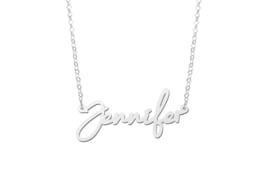 Names4ever Zilveren Jennifer Naamketting