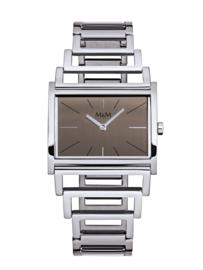 Rechthoekig M&M Horloge voor Dames met Edelstalen Horlogeband
