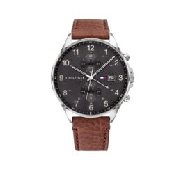 Zilverkleurig West Heren Horloge van Tommy Hilfiger
