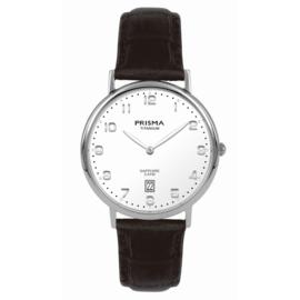 Prisma Zilverkleurig Signature Heren Horloge